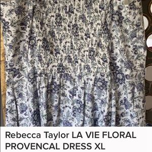 Rebecca Taylor LA VIE FLORAL PROVENCAL DRESS XL